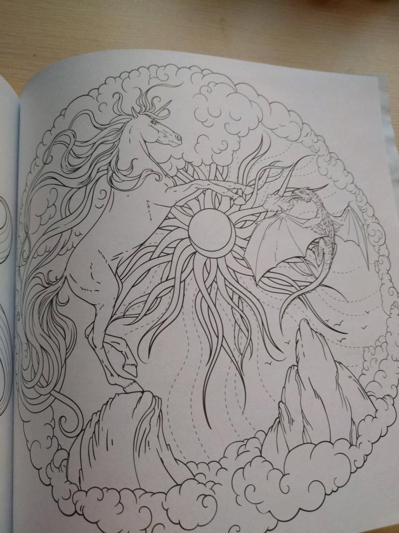 Иллюстрация 33 из 42 для Единороги. Раскраска-антистресс ...
