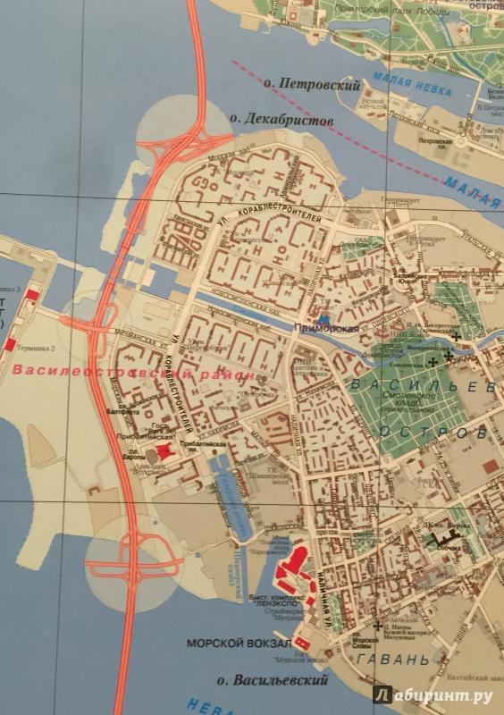 Иллюстрация 2 из 4 для Санкт-Петербург. Настенная карта   Лабиринт - книги. Источник: Р  Татьяна