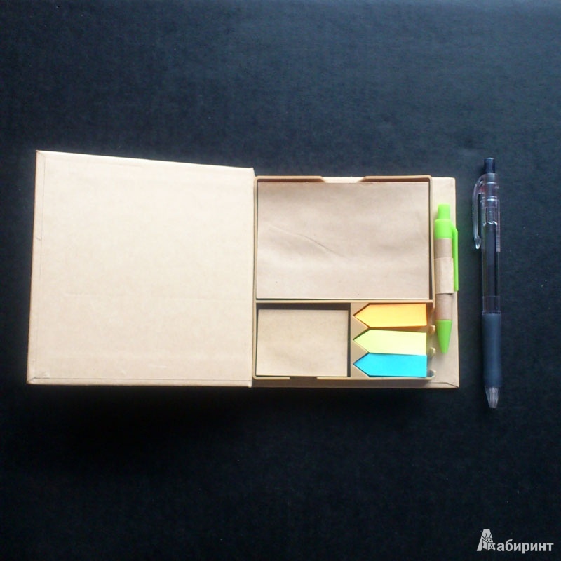 Иллюстрация 1 из 3 для Пенал + бумага для заметок + ручка шариковая синяя (070168)   Лабиринт - канцтовы. Источник: b000ka