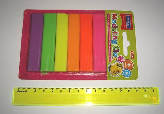 Иллюстрация 1 из 2 для Набор пластилина 6 цветов в блистере (ST-70-6) | Лабиринт - игрушки. Источник: OOlga