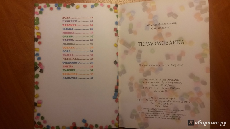 Иллюстрация 7 из 20 для Термомозаика - Людмила Синьковская | Лабиринт - книги. Источник: RoMamka