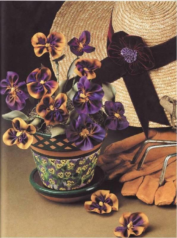 Иллюстрация 24 из 29 для Цветочные фантазии из лент - Дебора Хенри | Лабиринт - книги. Источник: Лана
