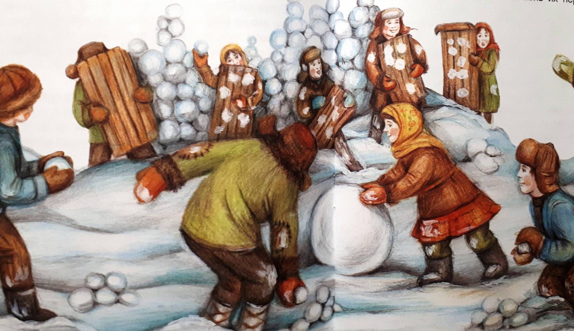 снежная крепость картинки рисунок видеоролика говорит