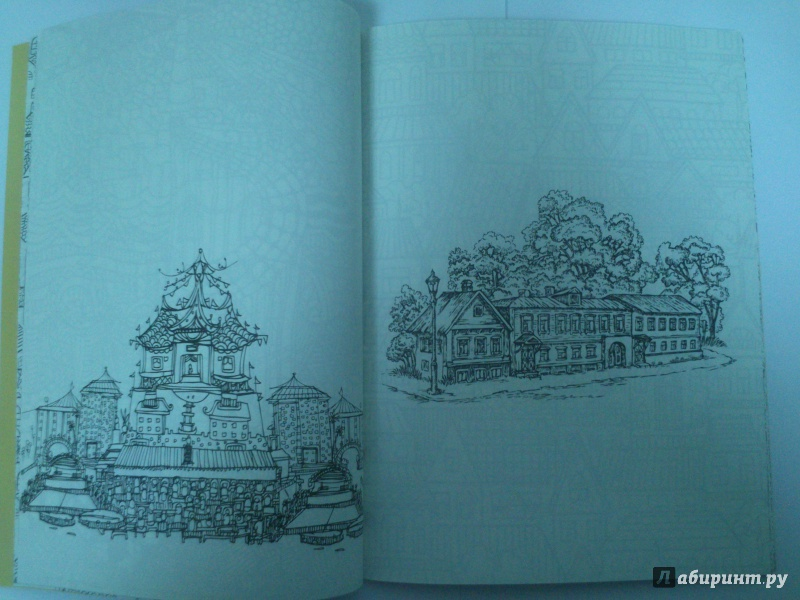 Иллюстрация 4 из 8 для Таинственный город. Раскраска для ...