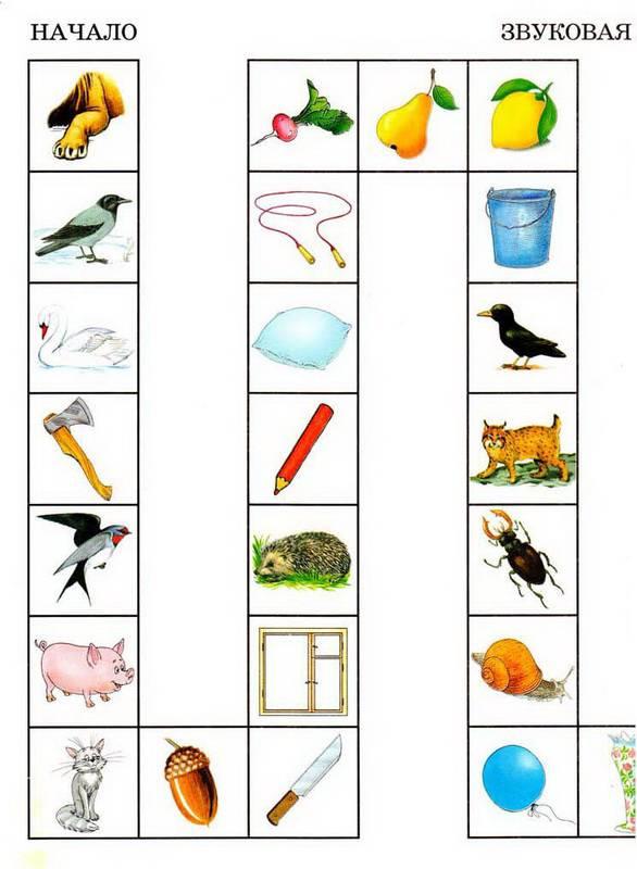 Карточки с картинками для автоматизации звуков