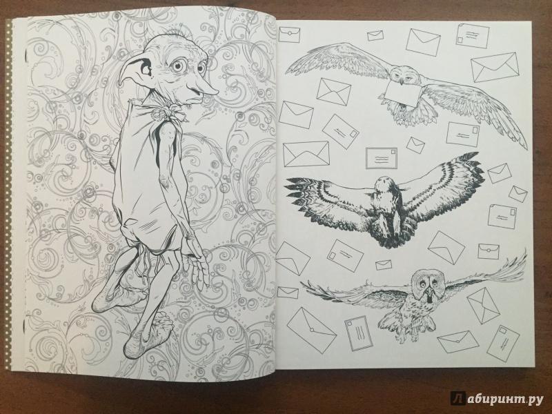 Иллюстрация 9 из 47 для Гарри Поттер. Волшебная раскраска ...
