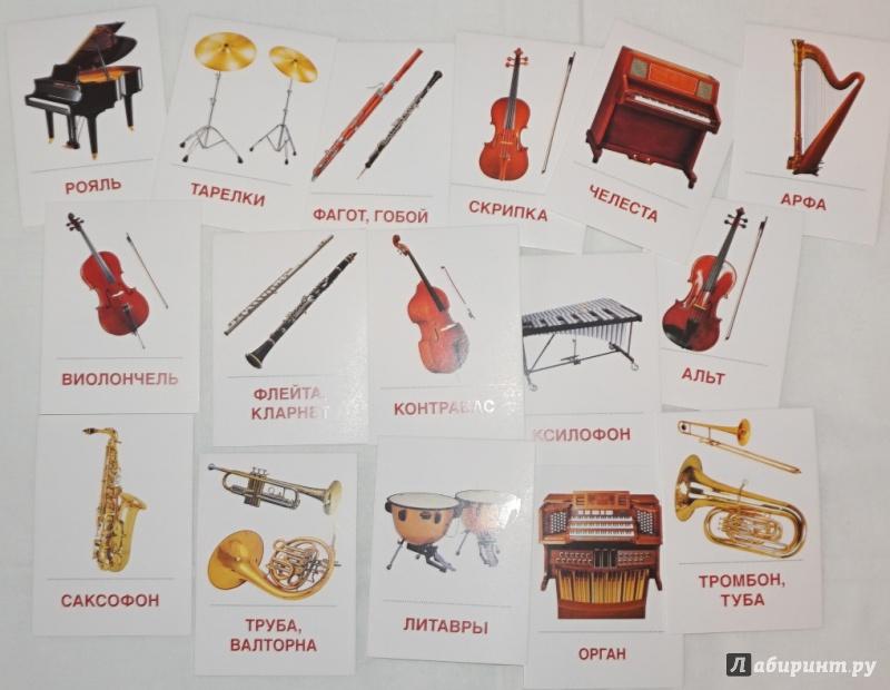 Название музыкальных инструментов без картинок