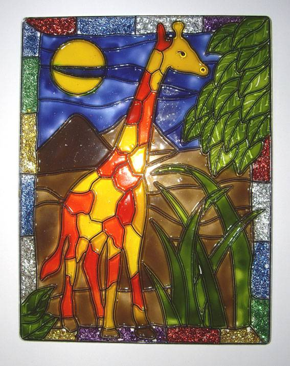 Иллюстрация 1 из 4 для Витраж большой: Жираф | Лабиринт - игрушки. Источник: OOlga