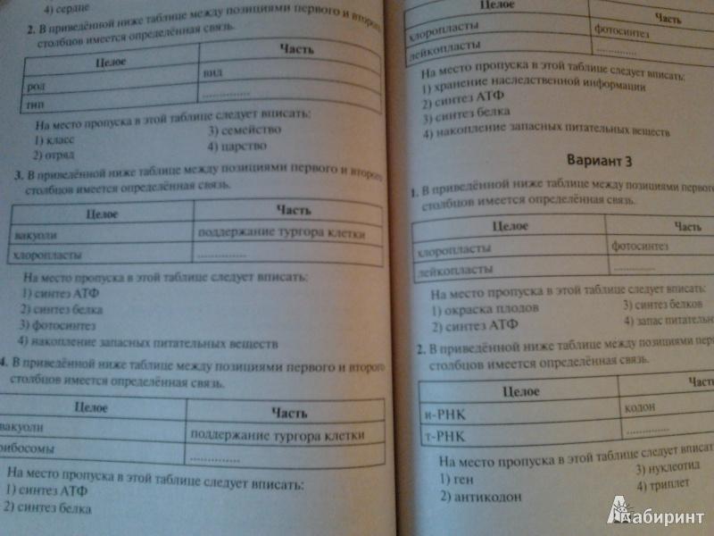 гекалюк тесты по биологии 6 класс