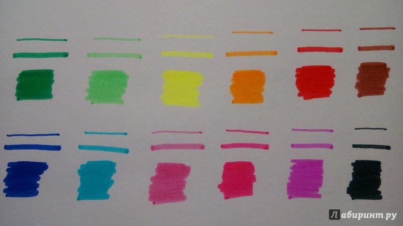 Иллюстрация 6 из 8 для Фломастеры JUMBO, 12 цветов. Утолщенный трехгранный корпус. В пластиковом футляре (М-5058-12) | Лабиринт - канцтовы. Источник: Alenta  Valenta