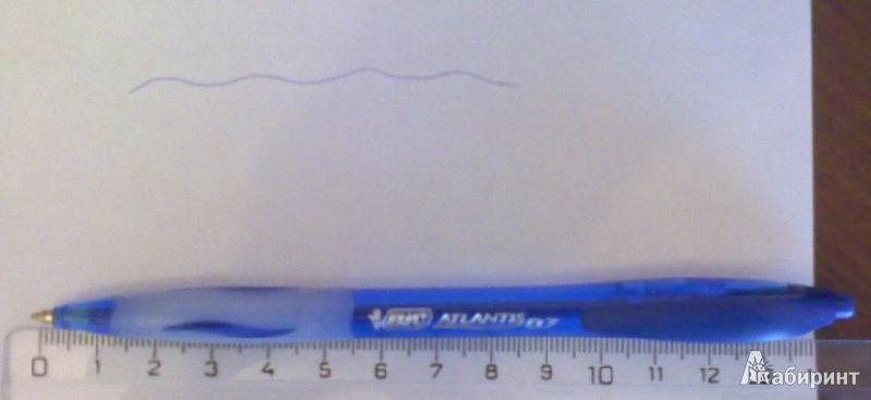 Иллюстрация 3 из 4 для Ручка шариковая BIC ATLANTIS FINE синяя (893227) | Лабиринт - канцтовы. Источник: Tatka