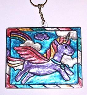 Иллюстрация 3 из 3 для Витраж средний: Единорог | Лабиринт - игрушки. Источник: OOlga