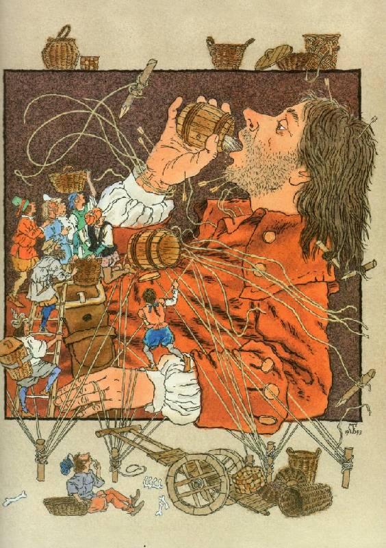 Картинка к произведению гулливер в стране лилипутов