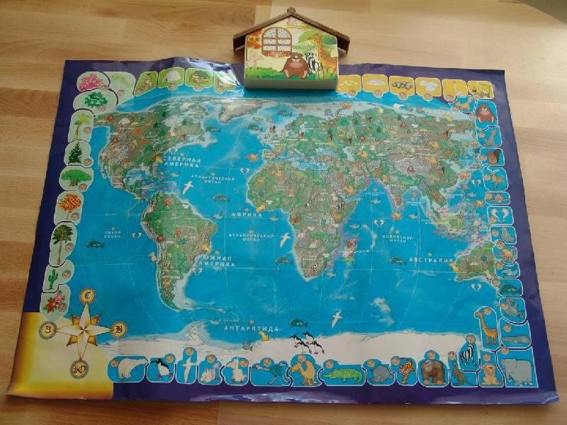 Иллюстрация 2 из 17 для Говорящая карта мира (6249)   Лабиринт - игрушки. Источник: Лаванда