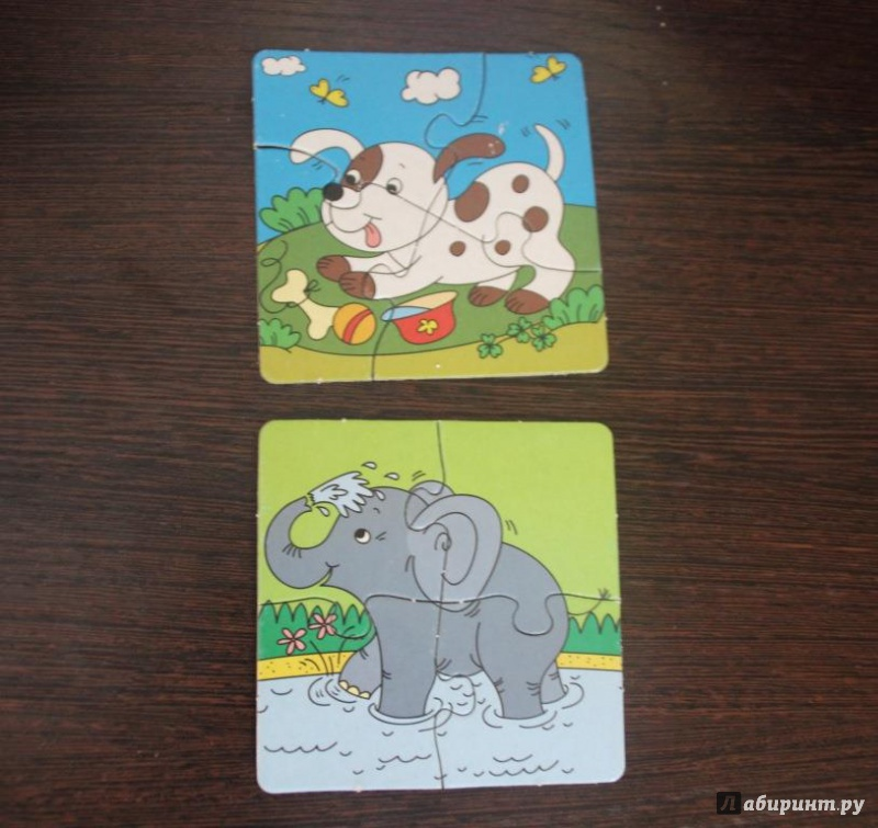 Иллюстрация 3 из 6 для Пазлы для малышей. 6 добрых зверят (2592) | Лабиринт - игрушки. Источник: Зинина  Татьяна Викторовна