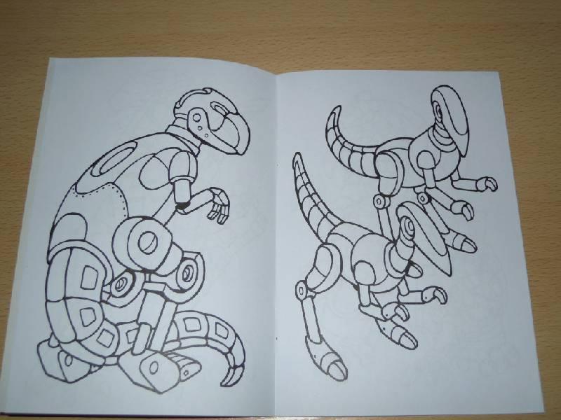 Иллюстрация 3 из 5 для Роботы-динозавры. Раскраска | Лабиринт - книги. Источник: Iwolga