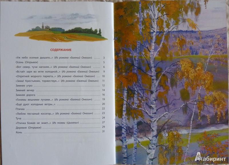 можно иллюстрации к стихам пушкина о природе малиновского, кстати отличный