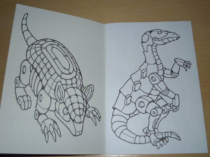 Иллюстрация 2 из 5 для Роботы-динозавры. Раскраска | Лабиринт - книги. Источник: Iwolga
