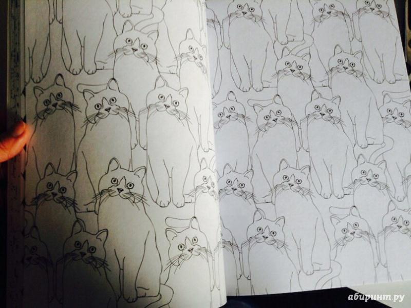 Иллюстрация 27 из 53 для Кототерапия. Раскраска-антистресс ...