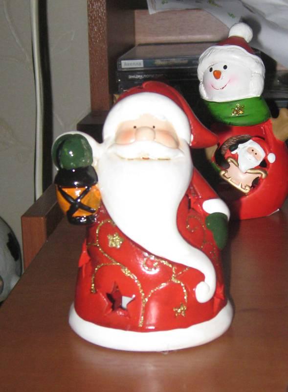 """Иллюстрация 2 из 3 для Украшение новогоднее """"Санта с фонарем"""" (22786)   Лабиринт - сувениры. Источник: thelopho"""