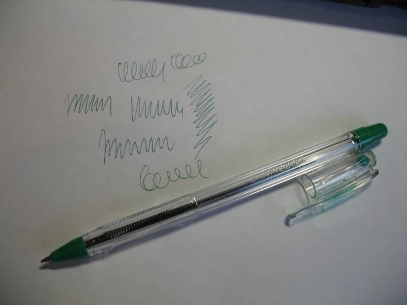 Иллюстрация 1 из 4 для Ручка шариковая на масляной основе зеленая (OJ-500) | Лабиринт - канцтовы. Источник: Lublu!