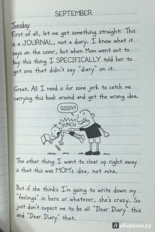 Иллюстрация 6 из 14 для Diary of a Wimpy Kid - Jeff Kinney | Лабиринт - книги. Источник: Tatiana Sheehan