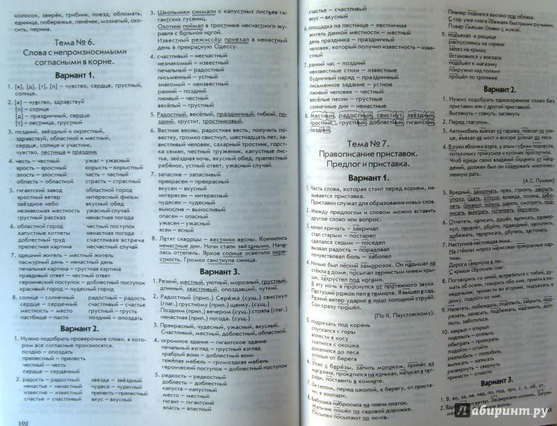 ответы на тематический контроль по русскому языку 4 класс голубь