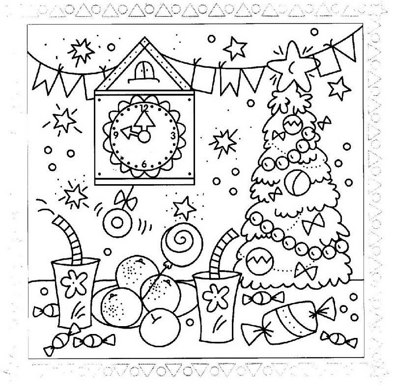 Нарисовать открытку с новым годом рисунки