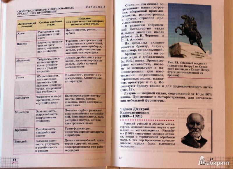Иллюстрация 20 из 60 для Химия. 9 класс. Учебник. Вертикаль - Олег Габриелян   Лабиринт - книги. Источник: Batterfly