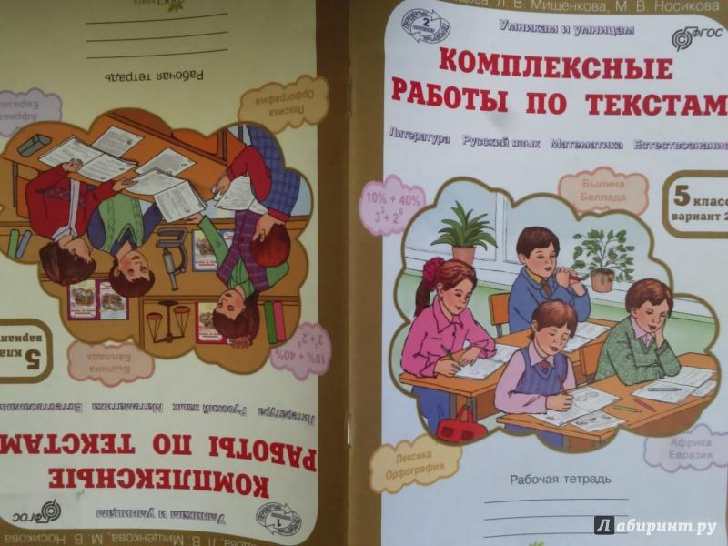 Иллюстрация 1 из 10 для Комплексные работы по текстам. 5 класс. Рабочая тетрадь-перевертыш в 2-х вариантах. ФГОС - Мищенкова, Холодова, Носикова   Лабиринт - книги. Источник: Салус