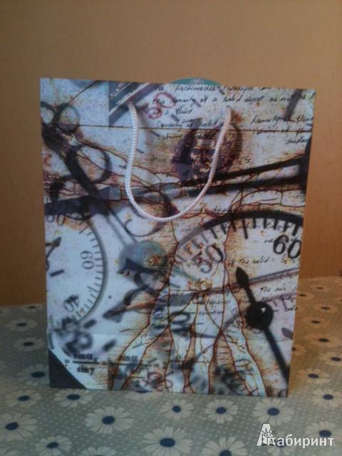"""Иллюстрация 1 из 4 для Пакет подарочный """"Человек и время"""" (EM-023)   Лабиринт - сувениры. Источник: Каманина  Мария"""
