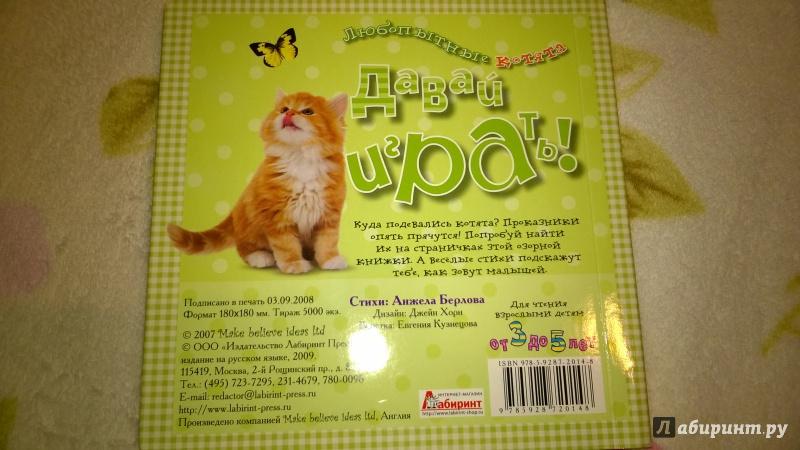 Иллюстрация 11 из 14 для Давай играть! Любопытные котята - Анжела Берлова | Лабиринт - книги. Источник: Солнышко Светка