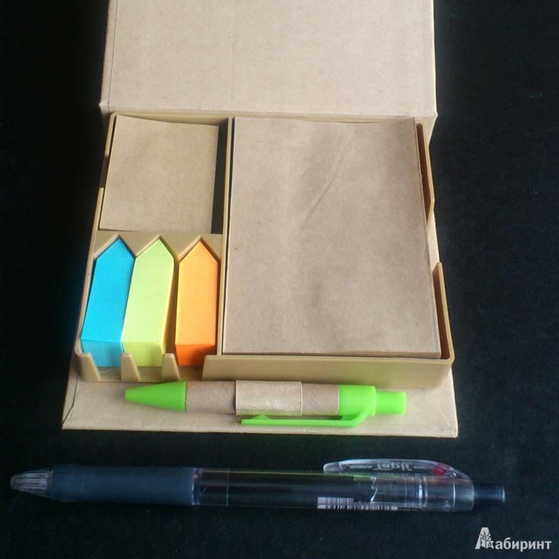 Иллюстрация 2 из 3 для Пенал + бумага для заметок + ручка шариковая синяя (070168) | Лабиринт - канцтовы. Источник: b000ka