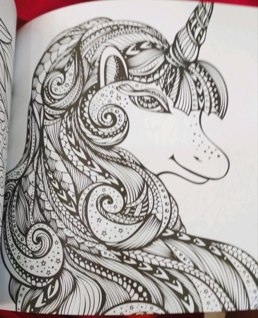 Иллюстрация 19 из 41 для Единороги. Раскраска-антистресс ...