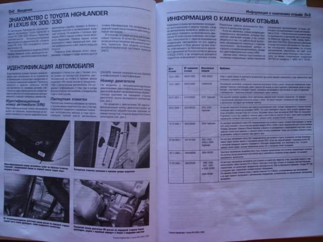 Иллюстрация 1 из 35 для Toyota Highlander 2001-2006/ Lexus RX 300/330 1999-2006. Ремонт и техническое обслуживание - Гамильтон, Хэйнес | Лабиринт - книги. Источник: Luchia