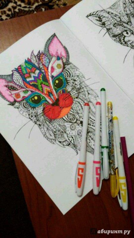 Иллюстрация 9 из 23 для Cats. Творческая раскраска ...