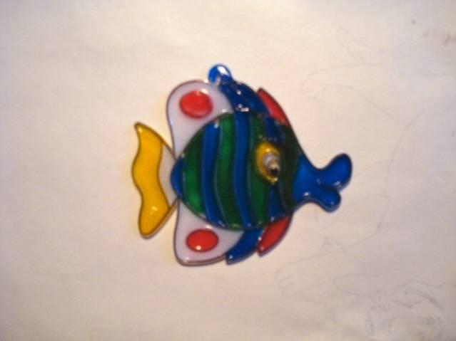 Иллюстрация 3 из 7 для Витраж малый: Рыба | Лабиринт - игрушки. Источник: soika