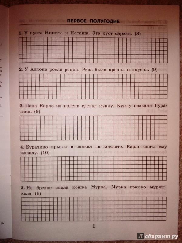 Иллюстрация 8 из 11 для Тренировочные примеры. Русский язык. 1 класс. Контрольное списывание. ФГОС - Марта Кузнецова | Лабиринт - книги. Источник: книгофобия