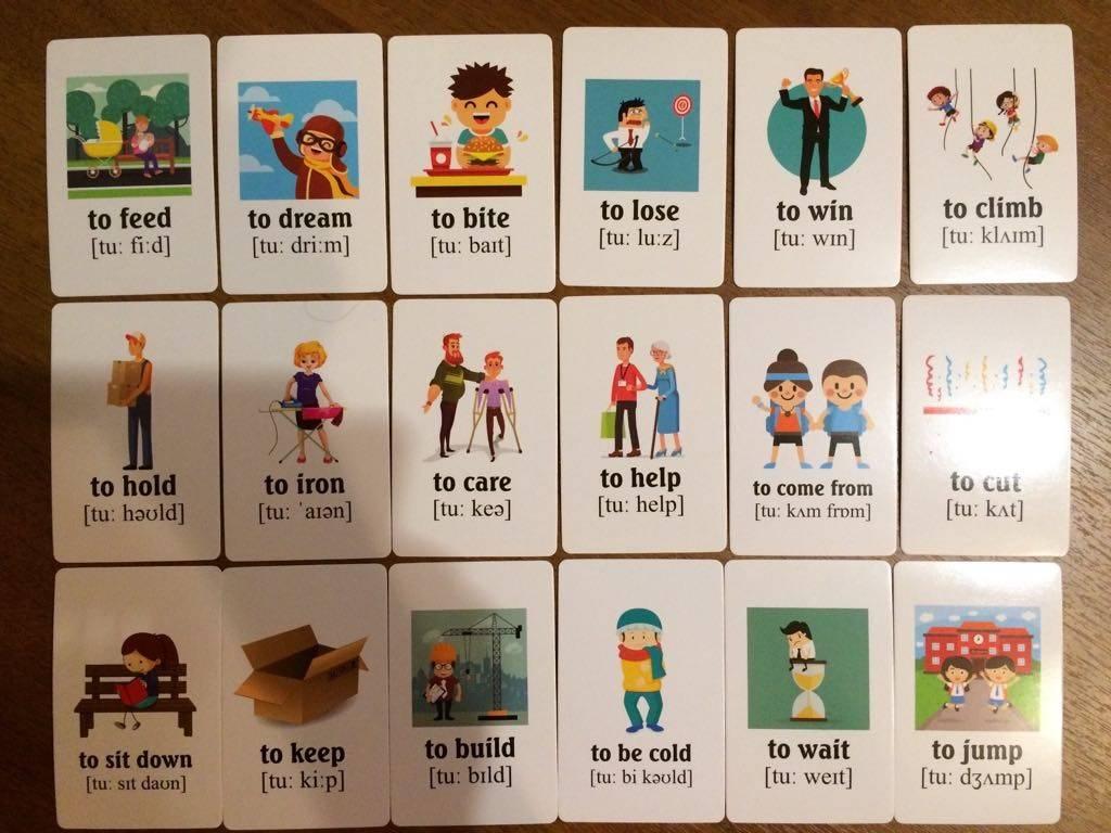 карточки картинок для изучения английского
