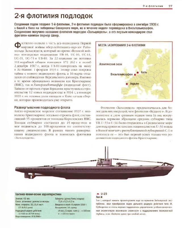 Иллюстрация 1 из 5 для Подводные лодки Кригсмарине: 1939-1945: Справочник-определитель флотилий - Крис Бишоп | Лабиринт - книги. Источник: Afina