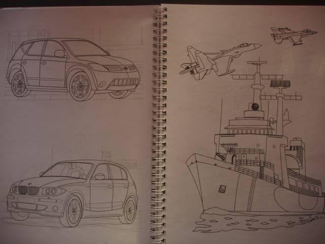"""Иллюстрация 18 из 20 для Раскраска """"Автомобили, авиация ..."""