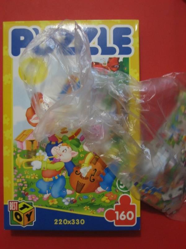 Иллюстрация 1 из 2 для Пазл - 160 элементов. Три поросенка (02545) | Лабиринт - игрушки. Источник: малышка Мю