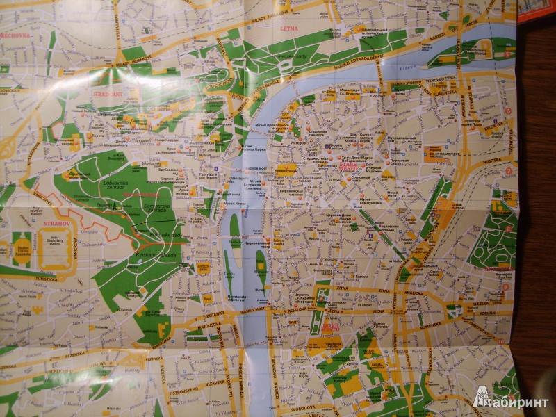 Иллюстрация 1 из 3 для Прага. Карта | Лабиринт - книги. Источник: kato!