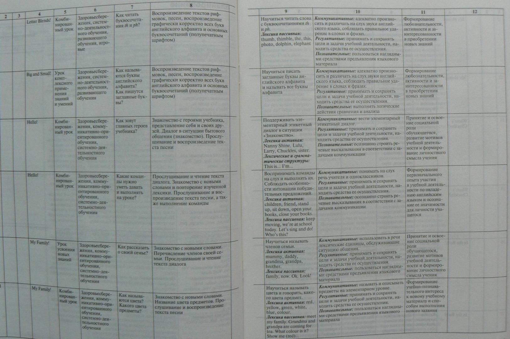 Иллюстрация 5 из 5 для Английский язык. 2 класс. Рабочая программа к УМК Н. И. Быковой, Дж. Дули и др. ФГОС   Лабиринт - книги. Источник: Лидия