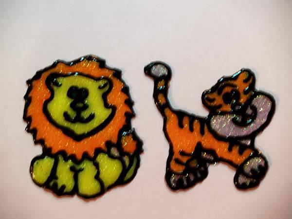 Иллюстрация 1 из 4 для Краски по стеклу флуоресцентные с блестками 6 цветов Витраж (17С 1160-08)   Лабиринт - игрушки. Источник: Cовушка