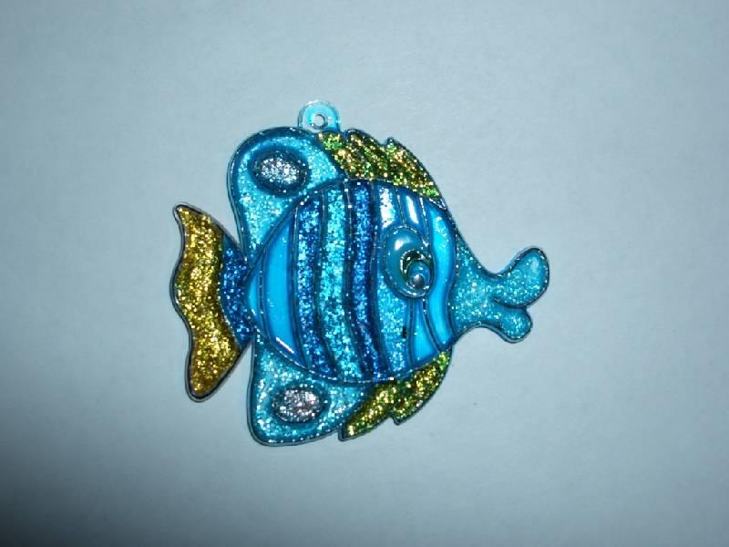 Иллюстрация 6 из 7 для Витраж малый: Рыба | Лабиринт - игрушки. Источник: sher