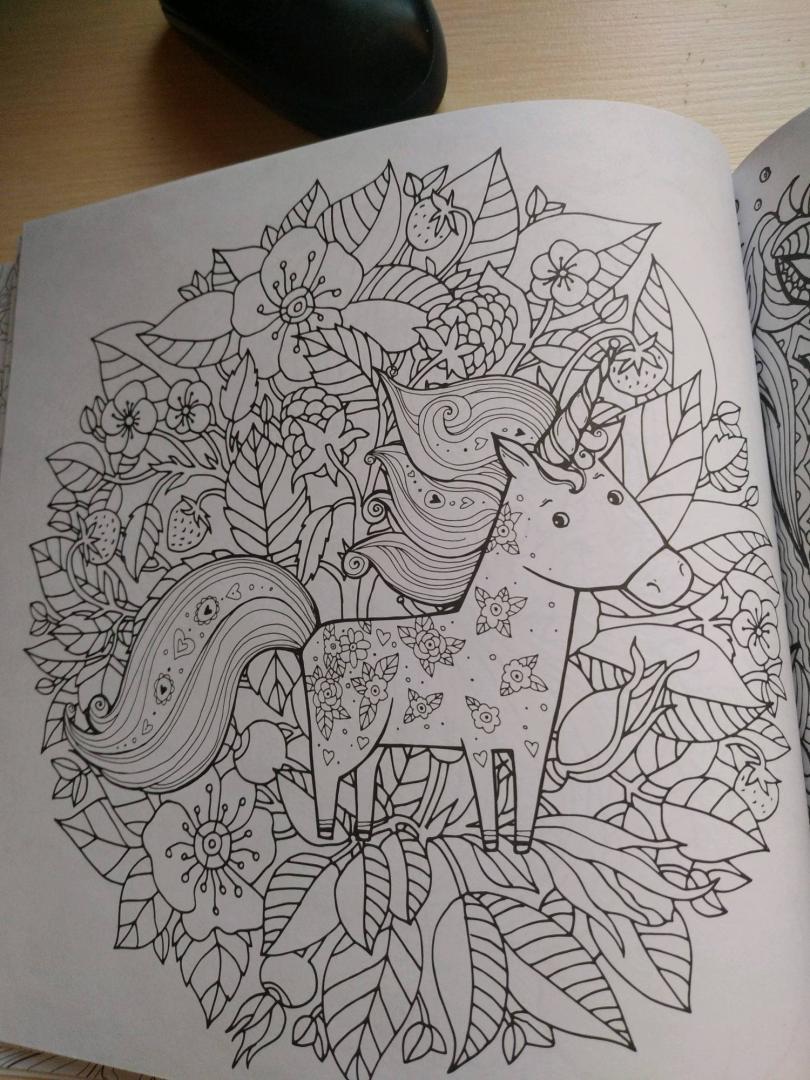 Иллюстрация 31 из 41 для Единороги. Раскраска-антистресс ...