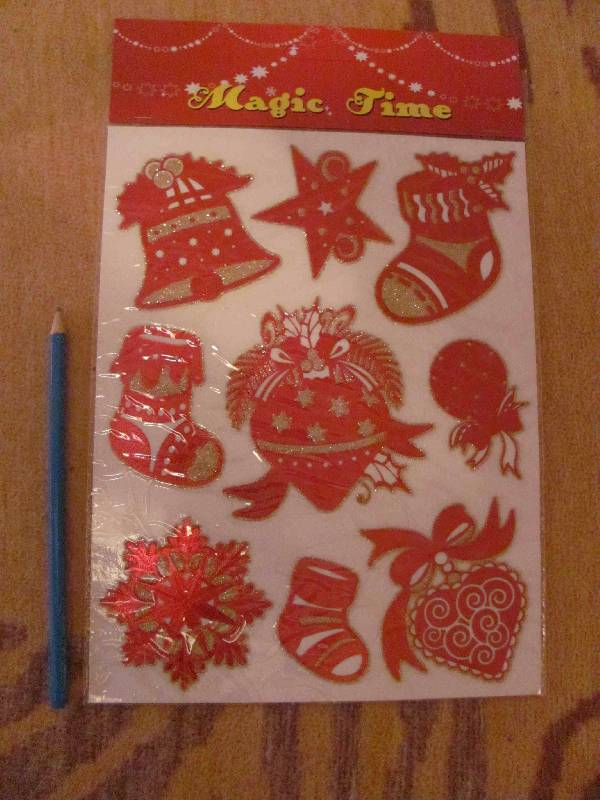 Иллюстрация 5 из 8 для Украшение новогоднее оконное (22273)   Лабиринт - сувениры. Источник: SaDacO