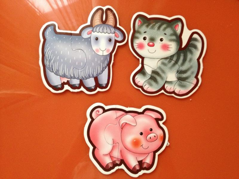 Иллюстрация 3 из 9 для Домашние животные: Собери 8 домашних животных: Для самых маленьких (1086) | Лабиринт - игрушки. Источник: Sozinova  Ksenia