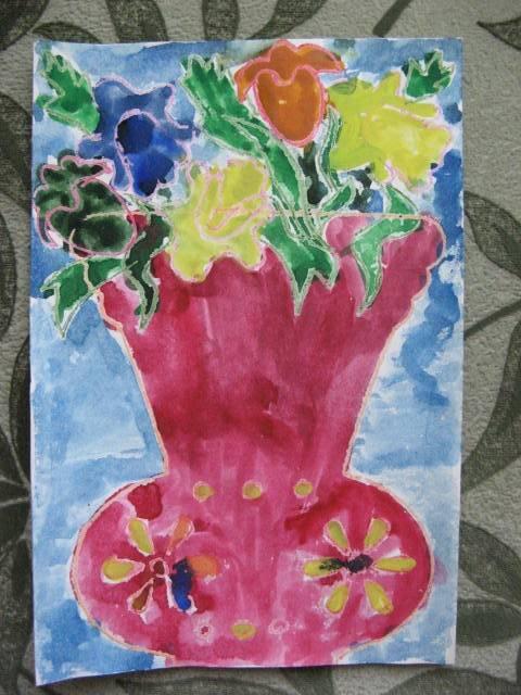 Иллюстрация 6 из 12 для Трафарет фигурный. Ваза с цветами | Лабиринт - игрушки. Источник: libe